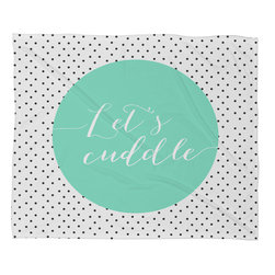 DENY Designs - Allyson Johnson Lets Cuddle Fleece Throw Blanket - This DENY fleece throw blanket may be the softest blanket ever! And we're not being overly dramatic here. In addition to being incredibly snuggly with it's plush fleece material, it's maching washable with no image fading. Plus, it comes in three different sizes: 80x60 (big enough for two), 60x50 (the fan favorite) and the 40x30. With all of these great features, we've found the perfect fleece blanket and an original gift! Full color front with white back. Custom printed in the USA for every order.