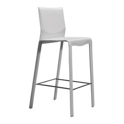 Ava Bar Stool, White, Set of 2