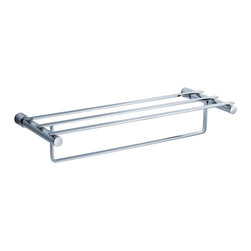 "Fresca - Fresca Magnifico 23"" Towel Rack - Chrome - All of our Fresca bathroom accessories are made with brass with a triple chrome finish and have been chosen to compliment our other line of products including our vanities, faucets, shower panels and toilets.  They are imported and selected for their modern, cutting edge designs."