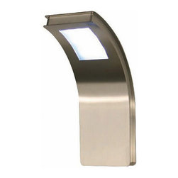 """Citos LED wall sconce - The Citos outdoor LED wall sconce consists of a brushed Premium stainless steel finish with a sandblasted glass. The light distribution is basically to the front. Onda is MADE IN GERMANY and comes with a 10 year warranty against rust. 50000 hours of lifetime and very low energy consumption makes this fixture a top pick for any areas with extended service hours.  All products by the manufacturer Heibi are innovative and quality products that are manufactured in their own production facilities in Germany. Over 70 years of experience and culture, craftsmanship and modern technology form the basis for it. Heibi stands for high quality and carefully selected materials, with reliance on durability and longevity.     Product Details:    The Citos modern outdoor lighting LED wall sconce consists of a brushed Premium stainless steel finish with an acrylic glass. With its 3 LED Modules with 3 x 1W Power LED each - Citos makes as much light as a 75W Light bulb but only consumes 9W of Energy. The light distribution is basically to the front. Onda is MADE IN GERMANY and comes with a 10 year warranty against rust. 50000 hours of lifetime and very low energy consumption makes this fixture a top pick for any areas with extended service hours.  All modern outdoor lighting products by the manufacturer Heibi are innovative and quality products that are manufactured in their own production facilities in Germany. Over 70 years of experience and culture, craftsmanship and modern technology form the basis for it. Heibi stands for high quality and carefully selected materials, with reliance on durability and longevity.      Manufacturer:    Heibi      Designer:    In house design      Made in:    Germany      Dimensions:    Height: 14"""" (35.5 cm) X Width: 5.5"""" (14 cm) X Proj: 7"""" (18cm)      Lighting:    3 x LED modules a 3 x 1W Power LED - 9W LED POWER        Materials:    Premium stainless steel, blown glass      Modern Outdoor Wall Sconce"""