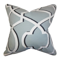 "The Pillow Collection - Curan Geometric Pillow Gray - Bring a modern touch to your home with this geometric throw pillow. This toss pillow features a geometric pattern in shades of gray, white and black. This 18"" pillow is made with a blend of 55% cotton and 45% linen material. Adorn your sofa, bed or seat with a few pieces of this striking square pillow. Crafted in the USA."