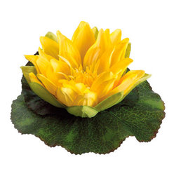 Silk Plants Direct - Silk Plants Direct Floating Water Lily Flower Head (Pack of 24) - Yellow - Pack of 24. Silk Plants Direct specializes in manufacturing, design and supply of the most life-like, premium quality artificial plants, trees, flowers, arrangements, topiaries and containers for home, office and commercial use. Our Floating Water Lily Flower Head includes the following: