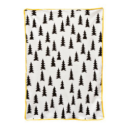 Gran Baby Blanket | Nannie Inez - Bundle up your little one in this mod fir tree print.
