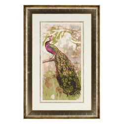 Paragon - Rustic Peacock II - Framed Art - Each product is custom made upon order so there might be small variations from the picture displayed. No two pieces are exactly alike.