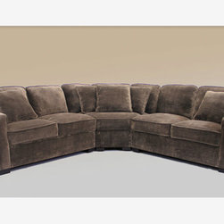 Traditional Chocolate Prem Super Soft Microfiber Sectional Sofa Couch - Features