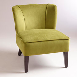Apple Green Quincy Chair - Apple green is such a fun color, and I can see this little beauty in many settings.
