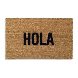 Hola Doormat - With this doormat, you can easlily imagine that you're in Spain instead of your own house.
