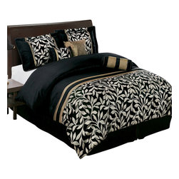 Bed Linens - Chandler 7-Piece Comforter Set, California King - Full 7-Piece set includes: