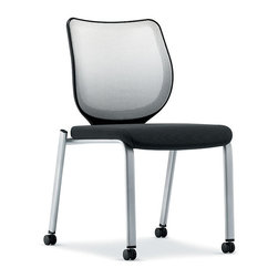Hon - Nucleus Multipurpose Chair - Please take a seat. Or take many. This versatile guest chair can be stacked with up to three of its mates — with or without their removable arms. The back and seat are designed to distribute weight evenly to eliminate pressure points so that two-hour PowerPoint presentation will just fly by.