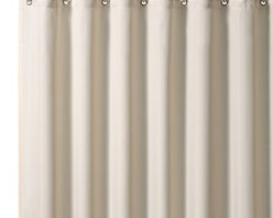 Croscill - Croscill Hotel 70-Inch x 72-Inch Fabric Shower Curtain Liner in Ivory - The Hotel liner is the ultimate in fabric shower liners. Liner is mildew resistant.