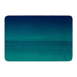 """KESS InHouse - Robin Dickinson """"When We're Together"""" Teal Memory Foam Bath Mat (17"""" x 24"""") - These super absorbent bath mats will add comfort and style to your bathroom. These memory foam mats will feel like you are in a spa every time you step out of the shower. Available in two sizes, 17"""" x 24"""" and 24"""" x 36"""", with a .5"""" thickness and non skid backing, these will fit every style of bathroom. Add comfort like never before in front of your vanity, sink, bathtub, shower or even laundry room. Machine wash cold, gentle cycle, tumble dry low or lay flat to dry. Printed on single side."""
