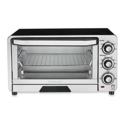 "Cuisinart - Cuisinart Custom Classic Toaster Oven Broiler - Toast, bake and broil with this powerful 1800-watt oven. The full-size interior holds an 11"" pizza and 4 slices of bread!"