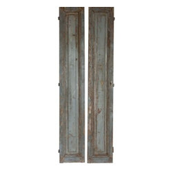 Antique Paris Apartment Shutters-Red Rover Alley - These tall shutters are quite spectacular. They were found in an apartment in Paris. Sold as a pair. Please allow 2 weeks for delivery.
