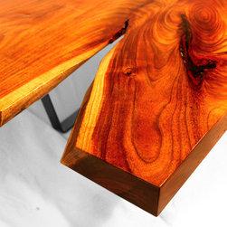 HeartBreaker Coffee Table - Solid slab of Black Acacia, highly figured