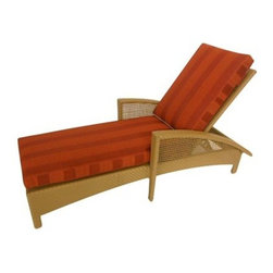 Woodard - Woodard Trinidad Wicker Adjustable Chaise Lounge - The name Woodard Furniture has been synonymous with fine outdoor and patio furniture since the 1930s continuing the company�s furniture craftsmanship dating back over 140 years. Woodard began producing hand-made wrought iron furniture which led the company into cast and tubular aluminum furniture production over the years.� Most recently Woodard patio furniture launched its entry into the all-weather wicker furniture market with All Seasons which is expertly crafted and woven using synthetic wicker supported by an aluminum frame.� The company is widely known for durable beautiful designs that provide attractive and comfortable outdoor living environments.� Its hand-crafted technique used to create the intricate design patterns on its wrought iron furniture have been handed down from generation to generation -- a hallmark of quality unmatched in the furniture industry today. With deep seating slings and metal seating options in a variety of styles Woodard Furniture offers the designs you want with the quality you expect.  Woodard aluminum furniture is distinguished by the purest aluminum used in the manufacturing process resulting in an extremely strong durable product which still can be formed into flowing shapes and forms.� The company prides itself on the fusion of durability and beauty in its aluminum furniture offerings. Finishes on Woodard outdoor furniture items are attuned to traditional and modern design sensibilities. Nineteen standard frame finishes and nineteen premium finishes combined with more than 150 fabric options give consumers countless options to design their own dream outdoor space. Woodard is also the exclusive manufacturer of outdoor furnishings designed by Joe Ruggiero home decor TV personality.� The Ruggiero line includes wrought iron aluminum and all weather wicker designs possessing a modern aesthetic and fashion-forward styling inspired by traditional Woodard patio furniture designs. Rounding out Woodard�s offerings is a line of distinctive umbrellas umbrella bases and outdoor accessories.� These offerings are an integral part of creating a complete outdoor living environment and include outdoor lighting and wall mounted or free standing architectural elements � all made with Woodard�s unstinting attention to detail and all weather durability. Woodard outdoor furniture is an American company headquartered in Coppell Texas with a manufacturing facility in Owosso Michigan.� Its brands are known under the names of Woodard Woodard Landgrave and Woodard Lyon Shaw. With a variety of collections Woodard produces a wide array of collections that will be sure to suit any taste ranging from traditional to contemporary and add comfort and style to any outdoor living space. With designs materials and construction that far surpass the industry standards Woodard Patio Furniture creates beauty and durability that is unparalleled.