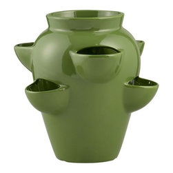 Strawberry Pot - Strawberry pots aren't just for strawberries. Use this pot to have cascading varieties of plants on your deck or patio.