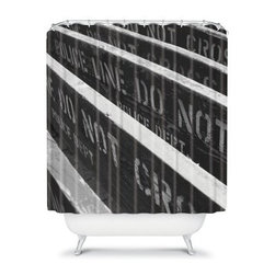 DENY Designs Leonidas Oxby Shower Curtain - With the DENY Designs Leonidas Oxby Shower Curtain you can bring a bite of the Big Apple home. It may be the city that never sleeps, but it has to shower and this curtain lets you do it in style. Made in the USA, this unique shower curtain is sure to elicit some jealous glances from friends.About DENY DesignsDenver, Colorado based DENY Designs is a modern home furnishings company that believes in doing things differently. DENY encourages customers to make a personal statement with personal images or by selecting from the extensive gallery. The coolest part is that each purchase gives the super talented artists part of the proceeds. That allows DENY to support art communities all over the world while also spreading the creative love! Each DENY piece is custom created as it's ordered, instead of being held in a warehouse. A dye printing process is used to ensure colorfastness and durability that make these true heirloom pieces. From custom furniture pieces to textiles, everything made is unique and distinctively DENY.