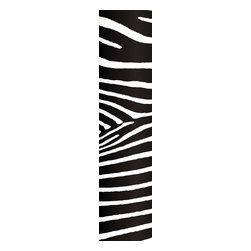 """Wizard & Genius - Zebra Stripe Wall Decals - A modern zebra print inspired wall decal. With contemporary scale and classic zebra stripes, this wall decal makes a band of black and white for your decor. Contains three 18.5"""" x 26.75"""" sheets - 18.5"""" x 80.25"""" assembled. Imported from Germany."""