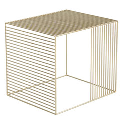 Iacoli & McAllister - Wire Table, Brass - Add a contemporary touch to any room in the house with this coated wire end table. Pick your favorite color and use it as a movable cocktail table or even as a bedside table. The look is light and airy and pairs easily with countless modern design styles.