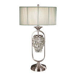Dale Tiffany - New Dale Tiffany 2-Light Lamp Nickel Crystal - Product Details