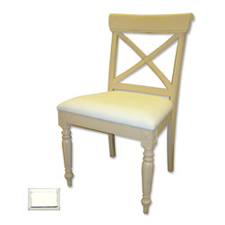 Tradewinds - Coastal Cross Back Side Chair, White - Bring this charm of coastal style furniture to your room settings by making this cross back side chair a part of it. This elegant creation features striking cross design on its back and makes an ideal addition to your dining table as well as side tables.