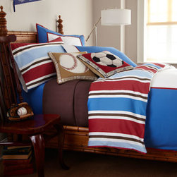 "Pine Cone Hill - Pine Cone Hill Full/Queen Herringbone Matelasse Coverlet, 90"" x 96"" - These red, white, blue, and brown bed linens are a style that works for toddlers to teens. And they're reversible! Sets include duvet cover, standard sham, fitted sheet, and pillowcase(s), all of 220-thread-count cotton sateen. Machine wash. Imported. B..."