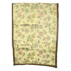 EuroLux Home - Large Consigned Vintage French Tapestry Table Runner - Product Details