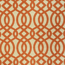 Lattice 2 Upholstery Fabric, Blue - This durable, woven geometric/lattice has its pattern defined by cobalt blue embroidery and is suitable for upholstery, cornice/headboards, and other decorative uses.