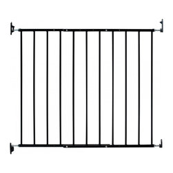 "KidCo - Safeway Baby/Pet Gate - The new KidCo Safeway Baby/Pet Gate is a top rated wall mount metal, swinging safety gate. The only expandable, plastic-coated, steel baby gate available that is 30.5"" high. Recommended for use at the top of stairs, as a window barrier, or at doorways. Fits openings 24.75"" - 43.5"" wide. The Safeway Baby Gate has been rated number one for use at the top of a stairway, twice, by a leading independent consumer organization. The Safeway's easy-to-adjust hardware allows gate to swing both ways and it also has an exclusive stopping feature that prevents the gate from swinging out over the staircase. It has the most flexible installation options for the top or bottom of stairs. The hardware also allows the baby gate to be quickly released from its mountings as desired. Mount directly to walls and banisters or add a gate mounting kit if you have hollow walls, baseboards, or don't want to screw into your banisters or woodwork. One-hand adult operation of child-proof latch."