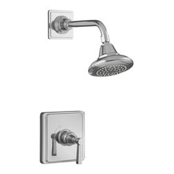 KOHLER - KOHLER K-T13134-4B-CP Pinstripe Shower Faucet Trim with Lever Handle in Polished - KOHLER K-T13134-4B-CP Pinstripe Shower Faucet Trim with Lever Handle in Polished ChromePinstripe bath and powder room faucets are true to the classic, elegant aesthetic of 1930s American design.  Their classic detailing provides the perfect finishing touch and extends nostalgic charm throughout bath and powder rooms.KOHLER K-T13134-4B-CP Pinstripe Shower Faucet Trim with Lever Handle in Polished Chrome, Features:• Wall-mount installation