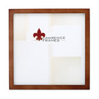 """Lawrence Frames - 766010 Nutmeg Wood 10x10 Picture Frame - This wood picture frame is the same you will find in studios and galleries and is the perfect frame for simply and elegantly framing any image.  It is a high quality wood frame joined in the corners with a """"spline"""" joint.  The molding is approximately 1 2 """" and is the perfect frame to use for a wall gallery.  This picture frame comes individually boxed, and includes high quality black wood backing with an easel for vertical or horizontal tabletop display, and hangers for wall mounting."""