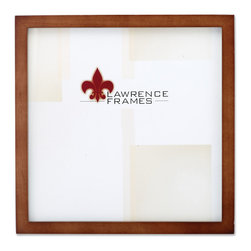 "Lawrence Frames - 766010 Nutmeg Wood 10x10 Picture Frame - This wood picture frame is the same you will find in studios and galleries and is the perfect frame for simply and elegantly framing any image.  It is a high quality wood frame joined in the corners with a ""spline"" joint.  The molding is approximately 1 2 "" and is the perfect frame to use for a wall gallery.  This picture frame comes individually boxed, and includes high quality black wood backing with an easel for vertical or horizontal tabletop display, and hangers for wall mounting."