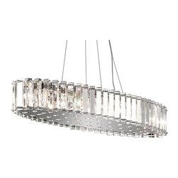 Kichler Lighting - Kichler Lighting 42173CH Crystal Skye Contemporary Chandelier In Chrome - Kichler Lighting 42173CH Crystal Skye Contemporary Chandelier In Chrome