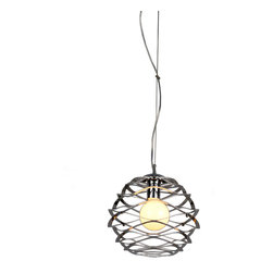 Bromi Design - Bromi Design Vesey 1-Light Steel Modern Pendant - Round out your decor with this chic stainless steel pendant. A single light encircled by wonderfully wavy metal, it's masterfully modern and effortlessly elegant.
