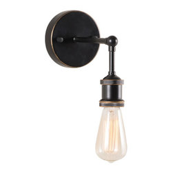 Zuo Era - Industrial Miserlite Wall Lamp - This dramatic wall lamp is part of the ZUO ERA Collection. A perfect meld of classic style and industrial strength, this elegant wall light would complement any style of decor. We love it on either side of one of our reclaimed wood console tables.