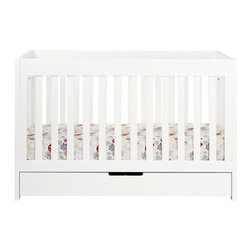 Babyletto Mercer 3-in-1 Convertible Crib With Toddler Rail - This is a modern crib that converts into a toddler bed. The simple, clean design is perfect for a boy or a girl.