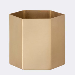 Honey Gold Planter - Large - Houseplants and flowers alike look oh-so-elegant rising from this solid brass planter. Its soft, matte finish gives it an understated glamor that's easy to style.