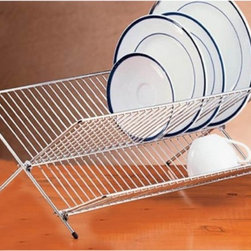 Creative Home - Creative Home Chrome Works Folding Dish Rack Multicolor - 73099R - Shop for Dish and Sink Racks from Hayneedle.com! About Creative Home Bringing fresh innovative products to the marketplace is priority at Creative Home . Offering mainly kitchenware and bath accessories the team at Creative Home collaborates with a variety of design groups and uses an assortment of resources to spot market trends. Known for using refreshing materials such as marble or eco-friendly bamboo for pantryware serveware or bath accessories and for using sleek stainless steel or enamel on steel for tea kettles mugs and more Creative Home presents a product line that meets the needs of today's consumers. There's no place like Creative Home a company that consistently excels in quality design function and value.