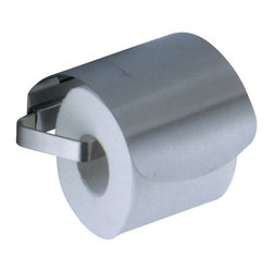 Gedy - Satin Nickel Toilet Roll Holder with Cover - Made in Italy by Gedy, this decorator toilet tissue holder is great for modern & contemporary bathrooms. Mount it on your bathroom wall to save space. Available in satin nickel and made in quality brass, this toilet paper holder is part of the Gedy Seventy collection. Decorator toilet paper holder, made in quality brass. Toilet tissue holder finished with satin nickel. Made in Italy by Gedy. Part of the Gedy Seventy collection.
