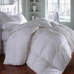 Downright - Astra Innofil Comforter - Features: -Material: 100% Cotton, plain weave.-233 Thread count.-Premium synthetic comforter.-Look and feel of a real down comforter.-Made with a hypoallergenic synthetic fiber.-Fluffs and feels like down.-Silk piping.-Double stitching.-Sewn-thru box construction.-Color: White.-Collection: Astra Innofil.-Distressed: No.-Country of Manufacture: United States.Dimensions: -68'' - 94'' W x 86'' - 108'' D, 3.13 lbs - 5.56 lbs.