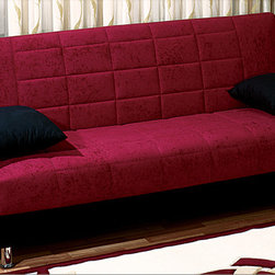 None - Chicago Sleeper Futon Sofabed - This armless sofa sleeper comfortably seats three and can conveniently fold out into a bed for an adult. Features huge storage underneath, the sofa's construction is also built to last.