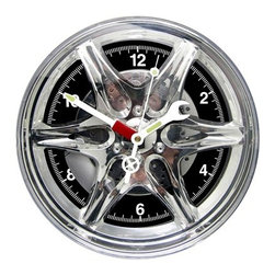 Kito - 10.5 Inch Car Hub Cap Wall Clock with Wrench and Screw Driver Hands - This gorgeous 10.5 Inch Car Hub Cap Wall Clock with Wrench and Screw Driver Hands has the finest details and highest quality you will find anywhere! 10.5 Inch Car Hub Cap Wall Clock with Wrench and Screw Driver Hands is truly remarkable.