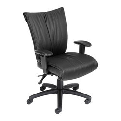 Boss - Boss Black Leatherplus Mid Back with 3 Paddle Mechanism - B756 - Shop for Chairs from Hayneedle.com! About Boss Office ProductsWilliam Huang Boss Office Product s CEO established the Los Angeles-based company in 1990. The company began as an importer distributing Taiwanese-crafted chairs to retailers and dealers throughout the United States. A year later in 1991 Boss became the first US office chair distributor to establish manufacturing facilities in China a major step forward for the company which now has distributors around the globe. In 2003 Boss was ranked as one of Inc. Magazine s 500 fastest growing private companies in America. That tremendous growth continues today as Boss continually delivers exceptional office products to companies around the world.