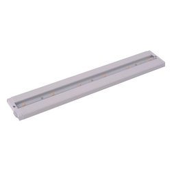 """Maxim - Maxim 89942WT 18"""" 6-Light LED Under Cabinet Light from the CounterMax MX Collect - Maxim 89942WT CounterMax MX 18"""" 6-Light LED Under Cabinet LightEmitting a clean white light that illuminates without shadows, this 18"""" 6 Light LED Under Cabinet Light features extremely energy-efficient LED units and a slim design that makes it suitable for any environment.The CounterMax MX-L-LPC series, a state-of-the-art low profile LED under cabinet light, installs easily under the cabinet and emits a crisp white light which illuminates without shadows. Dimmable using a standard wall dimmer and cabinets stay cool and safe with LED light output. CounterMax MX-L-LPC series is connectable with or without cords using MXInterLink5 technology, making this series convenient as well as beautiful.Maxim 89942WT Features:"""