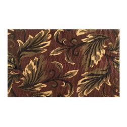 Imports D̩cor - Leaves with latex back Door Mat (ID749JTR) - Leaves with latex back