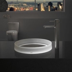 Toto - Luminist Lighted Round Vessel Sink | Toto - Made by TOTO USA.The Luminist Lighted Round Vessel Sink adds cutting-edge bathroom technology to bath spaces in need of an upgrade. This contemporary sink captures the essence of a modern home through its sleek proportions and vessel application. Complete with LED lighting. Features: