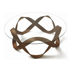 ecofirstart - INFINITY+1 Coffee Table - Bend the rules a bit. When it comes to tables, you may expect sturdy to mean stodgy and elegant to mean fussy. But the opposite is true with this beautifully simple, bentwood and glass coffee table. While it could easily be at home in a museum, it's actually designed for years of day-to-day use in your own home.