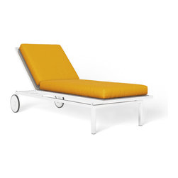 Edmond Chaise, Solid Dandelion - I think I would feel like I were in the Hollywood Hills while sitting in this patio chair — even from the middle of the Texas desert.