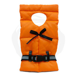 Epicureanist - Epicureanist Life Preserver Jacket - Whether you are giving a bottle away or keeping it for yourself, decorate it with this fun life jacket bottle cover. The perfect addition to a chilled bottle of white wine for a summer soir e, this bottle decoration will be the topic of conversation and a memorable gift at your next party.