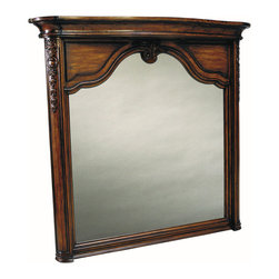 Trenton Bathroom Mirror - The Trenton Large Bath Mirror features a handsome, hand carved design fit only for luxurious bathrooms. The solid wood matches the finish on the Trenton Bathroom Vanity, but it easily works in different settings. Hand carved details and crown molding make this mirror a lovely addition anywhere.